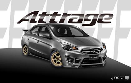 Mitsubishi Attrage แต่งสวย ๆ  แอททราจ แต่งสวย ๆ โดย ศักดิ์วรินทร์การพิมพ์
