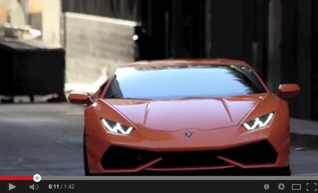 Lamborghini Huracan 2015 โชว์ลีลาเด็ดดริฟท์รถถ่ายโฆษณา